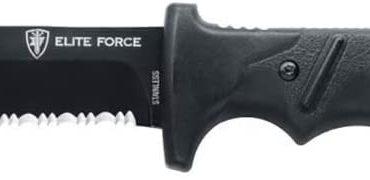 couteau de survie avec lame lisse et crantée